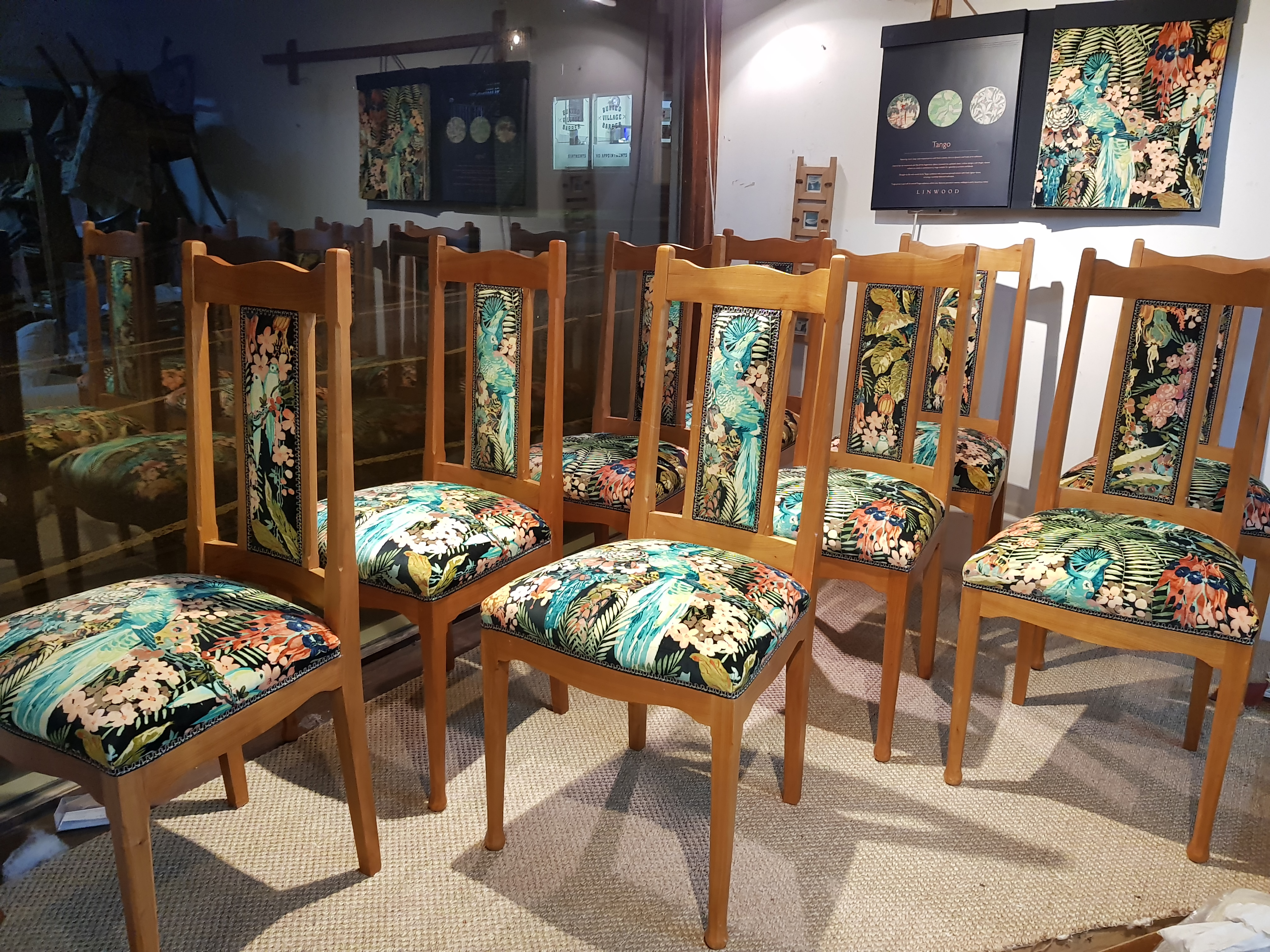 Dining Chairs In Shop Window