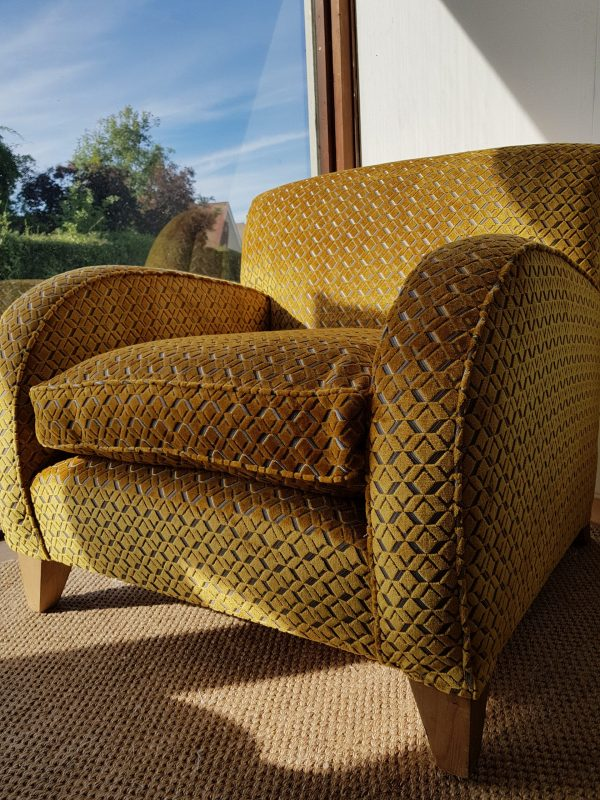 Claxtons armchair in gold